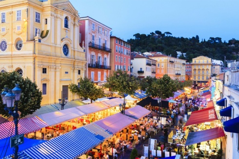 Nice-Cours-Saleya-Market-at-Evening